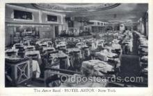 res001357 - Hotel Astor, New York, NY USA Restaurant Old Vintage Antique Postcard Post Cards