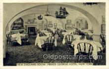 res001359 - Prince George Hotel, New York, NY USA Restaurant Old Vintage Antique Postcard Post Cards