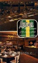 res001399 - Martimes, Sarasota, FL USA Restaurant Old Vintage Antique Postcard Post Cards