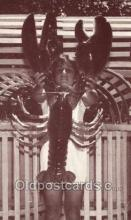 res001412 - Crusher The Giant Lobster, Atlantic Ocean, NJ USA Restaurant Old Vintage Antique Postcard Post Cards