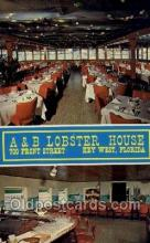 res001413 - A & B Lobster House, Key West, FL USA Restaurant Old Vintage Antique Postcard Post Cards