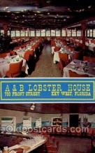 res001418 - Key West, FL USA A & B Lobster House Old Vintage Antique Postcard Post Cards