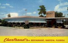 res001425 - Bartow Florida USA Chartrands Restaurant Old Vintage Antique Postcard Post Cards