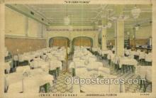 res001430 - Jacksonville Florida USA Linen postcard Jenks Restaurant Old Vintage Antique Postcard Post Cards