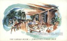 res001440 - Daytona Beach Florida USA The Garden Room in Johnstons Coffee Shop Old Vintage Antique Postcard Post Cards
