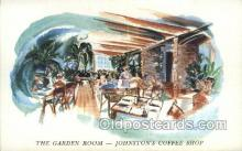 res001441 - Daytona Beach Florida USA The Garden Room in Johnstons Coffee Shop Old Vintage Antique Postcard Post Cards