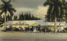 res001444 - Miami Florida USA Linen postcard Miamis Famous Cottage Inn Old Vintage Antique Postcard Post Cards
