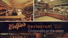 res001454 - St Petersburg Florida USA Wolfies Restaurant Old Vintage Antique Postcard Post Cards