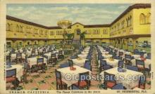 res001494 - St Petersburg, FL USA Tramor Cafeteria  Old Vintage Antique Postcard Post Cards