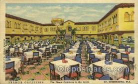 res001494 - St Petersburg, FL USA Tramor Cafeteria  Old Vintage Antique Postcard Post Cards