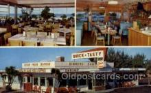 res001495 - Ormond Beach, FL USA Quick n Tasty Coffee Shop Old Vintage Antique Postcard Post Cards