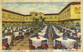 res001496 - St Petersburg, FL USA Tramor Cafeteria  Old Vintage Antique Postcard Post Cards