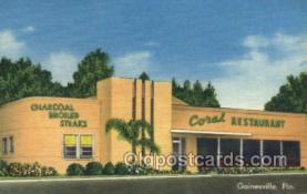 res001499 - Gainesville, FL USA Coral Restaurant Old Vintage Antique Postcard Post Cards