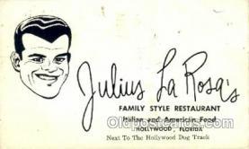 res001504 - Hollywood, FL USA Julius La Rosas Old Vintage Antique Postcard Post Cards