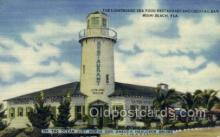 res001507 - Miami Beach , FL USA The Light House Sea Food Restaurant and cocktail bar Old Vintage Antique Postcard Post Cards