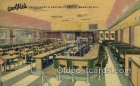 res001508 - Miami Beach, FL USA Wolfies Restaurant Old Vintage Antique Postcard Post Cards