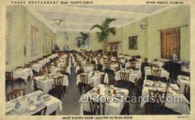 res001509 - Miami Beach, FL USA Fassa Restaurant from Monte Carlo Old Vintage Antique Postcard Post Cards