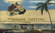 res001510 - Miami Beach, FL USA The Governor Cafeteria  Old Vintage Antique Postcard Post Cards