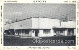 res001511 - Bradenton, FL USA Carcias Spanish Restaurant Old Vintage Antique Postcard Post Cards