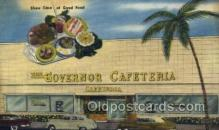 res001512 - Miami Beach, FL USA The Governor Cafeteria  Old Vintage Antique Postcard Post Cards