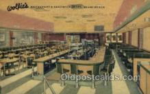 res001517 - Miami Beach, FL USA Wolfies Restaurant Old Vintage Antique Postcard Post Cards