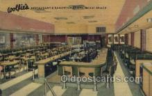 res001532 - Miami Beach, FL USA Wolfies Restaurant Old Vintage Antique Postcard Post Cards