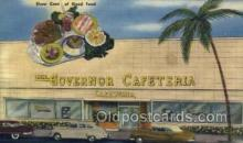 res001534 - Miami Beach, FL USA The Governor Cafeteria  Old Vintage Antique Postcard Post Cards