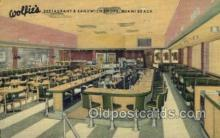 res001537 - Miami Beach, FL USA Wolfies Restaurant Old Vintage Antique Postcard Post Cards
