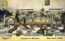res001540 - Miami Beach, FL USA Curry's Restaurant Old Vintage Antique Postcard Post Cards