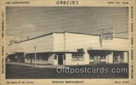 res001541 - Bradenton, FL USA Garcia's Spanish Restaurant Old Vintage Antique Postcard Post Cards
