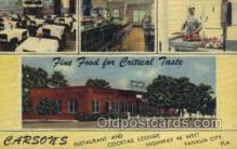 res001542 - Panama City, FL USA Carson's Restaurant Old Vintage Antique Postcard Post Cards