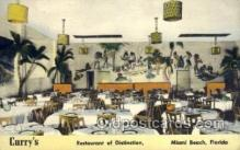 res001544 - Miami Beach, FL USA Curry's Restaurant Old Vintage Antique Postcard Post Cards
