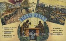res001549 - Michigan USA Brass Rails Old Vintage Antique Postcard Post Cards