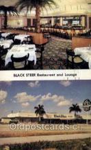 res001570 - Hollywood Florida USA Black Steer Old Vintage Antique Postcard Post Cards