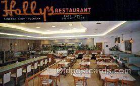 res001586 - St Petersburg Florida USA Hollys Restaurant Old Vintage Antique Postcard Post Cards