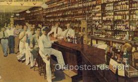 res001589 - Homestead Florida USA Linen Postcard Andys Bar Old Vintage Antique Post Cards