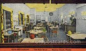 res001593 - Daytona Beach Florida USA Linen Postcard Kays Restaurant Old Vintage Antique Post Cards