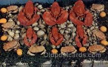 res001598 - Rhode Island USA Rhode Island Seafood Old Vintage Antique Postcard Post Cards