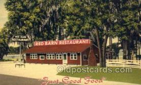 res001606 - Lake City Florida USA Linen Postcard Red Barn Restaurant Old Vintage Antique Post Cards
