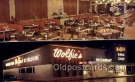 res001616 - Fort Lauderdale Florida USA Wolfies Restaurant Old Vintage Antique Postcard Post Cards