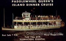 res001633 - West Palm Beach Florida USA Paddlewheel Queen's Island Dinner Cruise Old Vintage Antique Postcard Post Cards