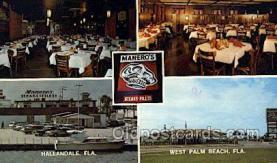res001634 - Hallandale Florida USA Maneros  Old Vintage Antique Postcard Post Cards