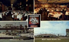res001635 - Hallandale Florida USA Maneros  Old Vintage Antique Postcard Post Cards