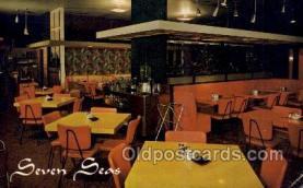 res001643 - Panama City Florida USA Seven Seas Restaurant Old Vintage Antique Postcard Post Cards