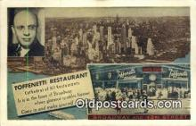 res050001 - Time Square, Toffenetti Restaurant, New York City, NYC Postcard Post Card USA Old Vintage Antique