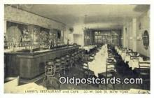 res050009 - Larre's Café & Restaurant, New York City, NYC Postcard Post Card USA Old Vintage Antique