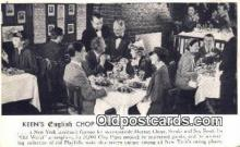 res050011 - Keen's English Chop House Restaurant, New York City, NYC Postcard Post Card USA Old Vintage Antique