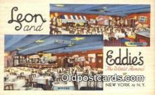 res050012 - Leon & Eddie's Restaurant, New York City, NYC Postcard Post Card USA Old Vintage Antique