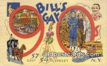 res050013 - Bill's Gay Nineties Restaurant, New York City, NYC Postcard Post Card USA Old Vintage Antique