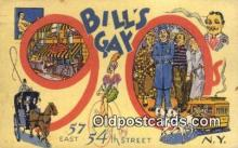 res050016 - Bill's Gay Nineties Restaurant, New York City, NYC Postcard Post Card USA Old Vintage Antique